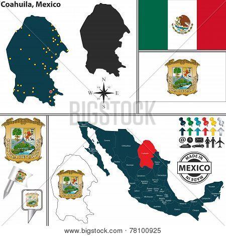 Map Of Coahuila, Mexico