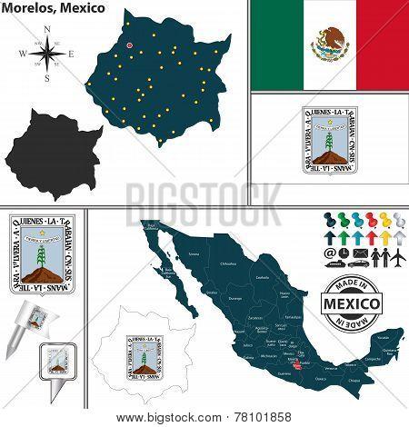 Map Of Morelos, Mexico