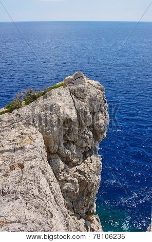 Rocky promontory on the Mediterranean Sea