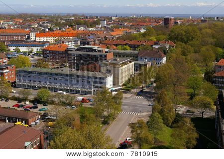Townscape Wilhelmshaven from townhalll tower
