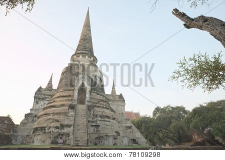 Ancient ruin of Wat Phra Sri Sanphet