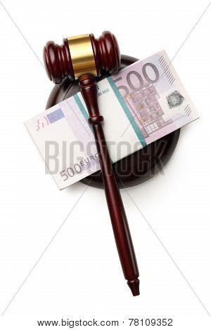 Judge's Gavel And Money