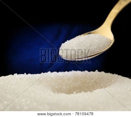 White Sugar And Spoon
