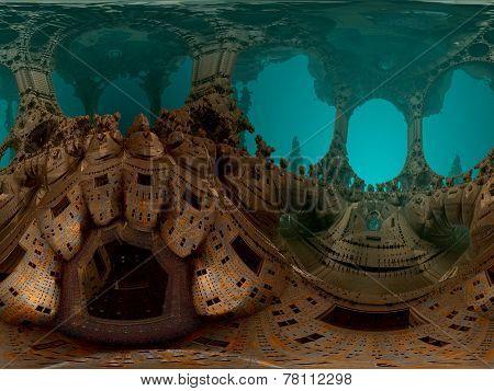 Computer rendered virtual scene