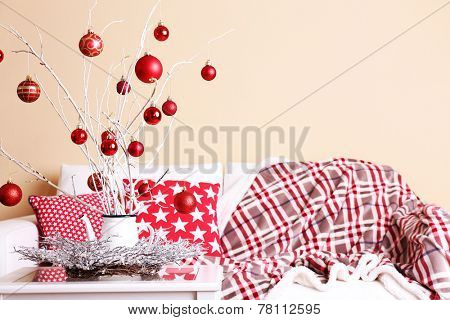 Cozy Christmas home interior