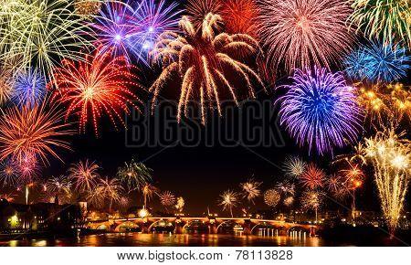 Cheerful Fireworks Display