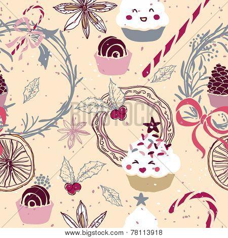 sweet winter seamless pattern
