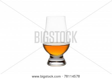 Isolated Whiskey In A Crystal Tasting Glass