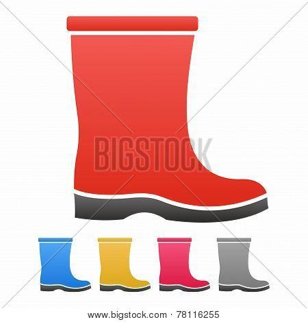 Boot icon set