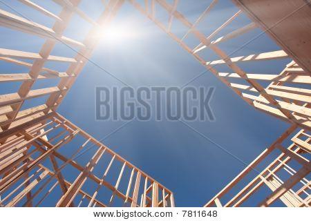 Construction Framing Abstract