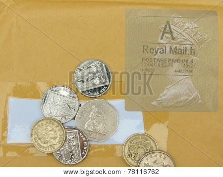 British Pounds And Stamp