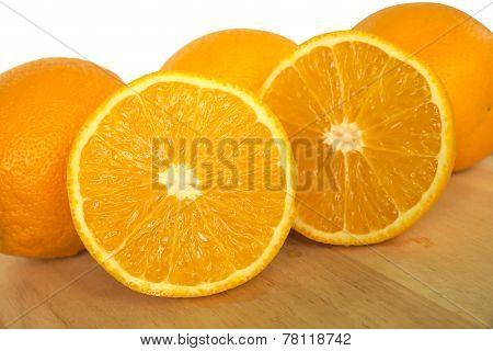 Half cross section of orange