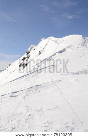 White Ski Slope