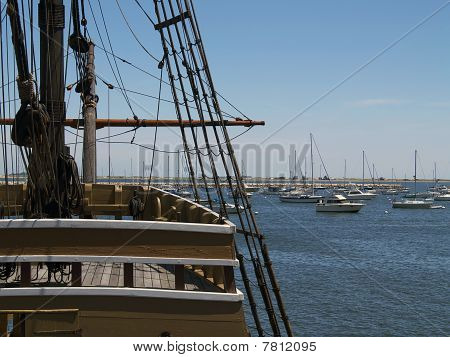 Mayflower II and Plymouth Harbor