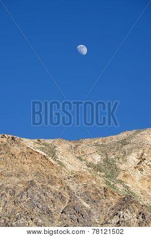 Moon Over Desert Mountains