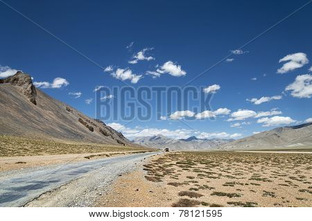 National Highway Among High Altitude Mountains