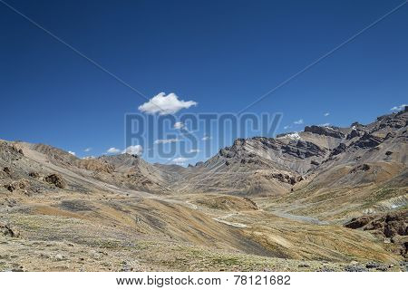 Panoramic View Of Mountains And Winding Road