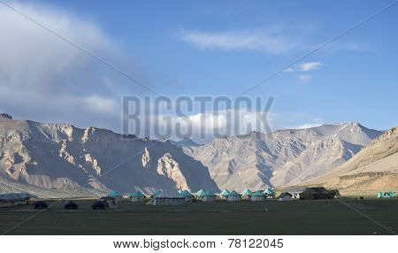 Camping In High Mountain Valley