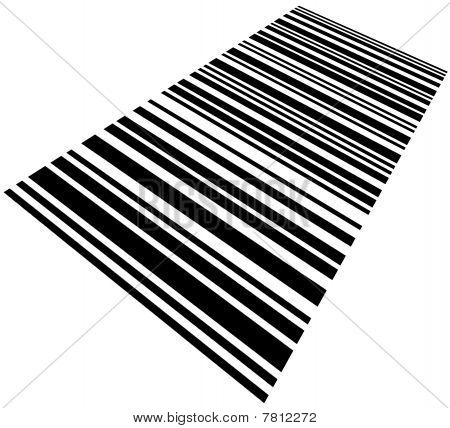 Large Barcode Background Macro Closeup Isolated On White