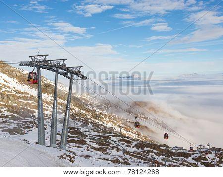 Mountain Ski Resort In The Alps