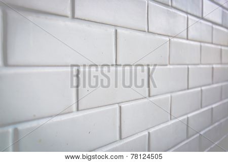 White Brick Wall With High Resolution.