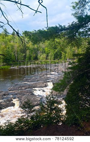 Bluff Above Saint Louis River In Jay Cooke