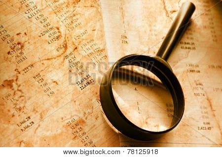 Budget And Magnifying Glass