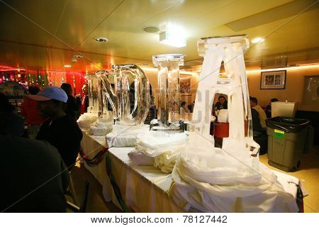 Ice Sculpure On Queen Mary 2