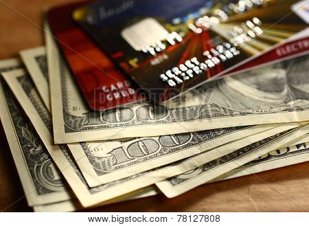 Credit Cards And Dollars