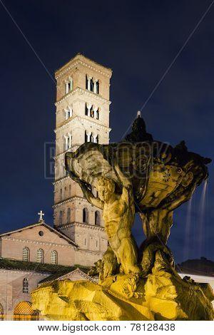 Fountain At Piazza Bocca Della Verita