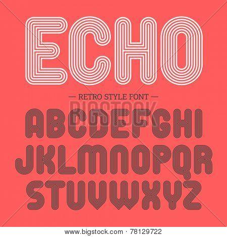 Retro style font. Vector.