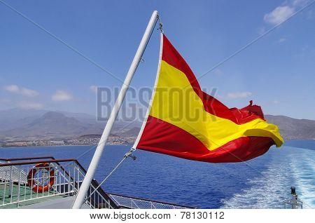 Spanish Flag On A Mast