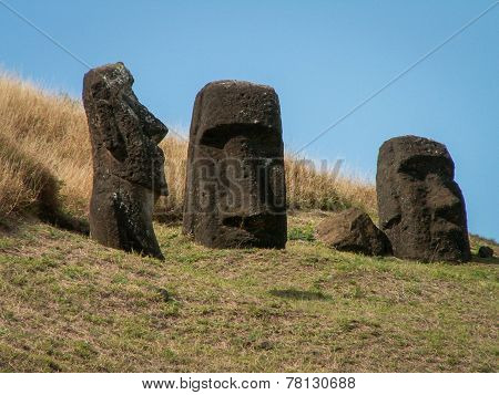 Three Moai