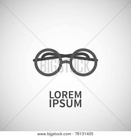 Icon flat  element design eyeglasses
