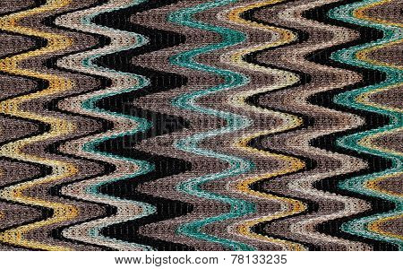 Blue, Yellow And Grey Waves Pattern