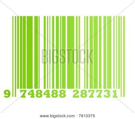 Eco Green Bar Code