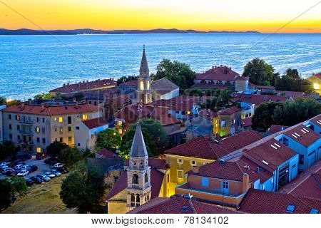 Historic Zadar Skyline Evening View