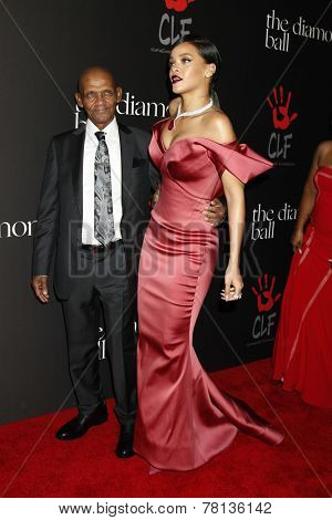 LOS ANGELES - DEC 11:  Lionel Braithwaite , Rihanna at the Rihanna's First Annual Diamond Ball at the The Vineyard on December 11, 2014 in Beverly Hills, CA