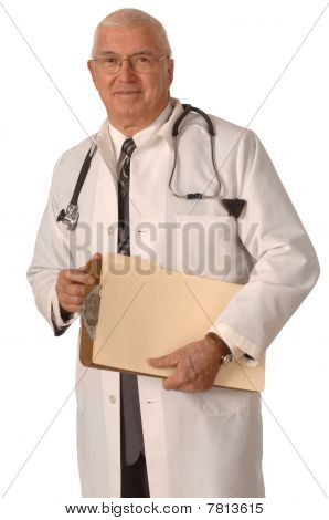 Doctor On White Standing