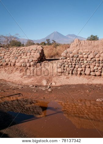 Conical Mountain Through Wall