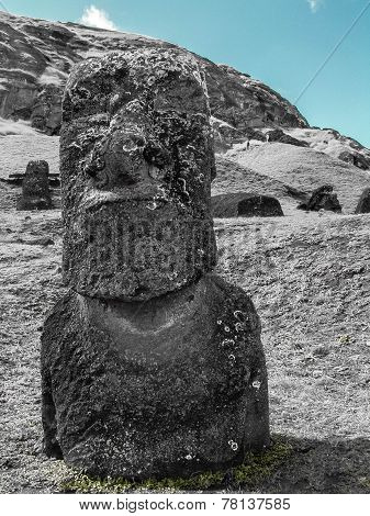 Black And White Moai