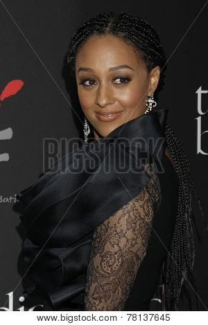 LOS ANGELES - DEC 11:  Tia Mowry-Hardrict at the Rihanna's First Annual Diamond Ball at the The Vineyard on December 11, 2014 in Beverly Hills, CA