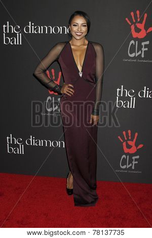 LOS ANGELES - DEC 11:  Kat Graham at the Rihanna's First Annual Diamond Ball at the The Vineyard on December 11, 2014 in Beverly Hills, CA