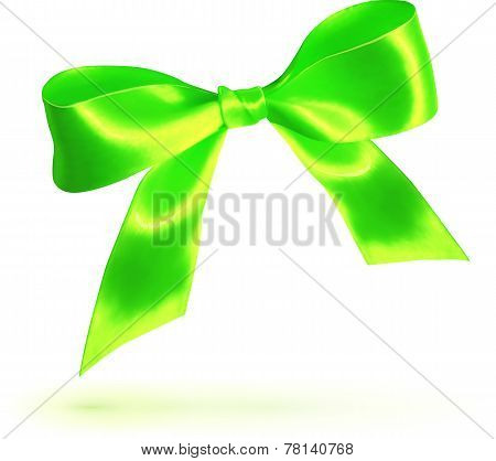 Green vector silky bow