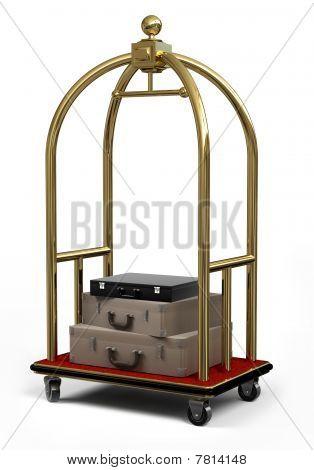 Bell Cart On White