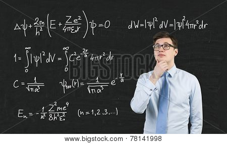 Mathematic Formula On Blackboard