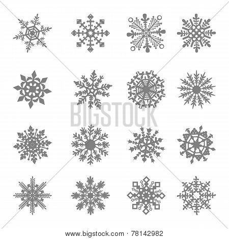 Snowflake Vector, star, white, symbol, graphic, crystal, frozen,