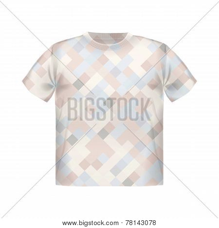T-shirt print geometric, modern, poster, short, square background, vector