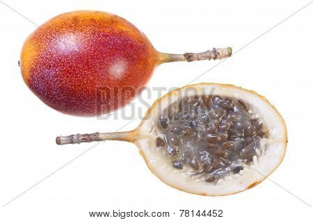 Granadilla Isolated On White