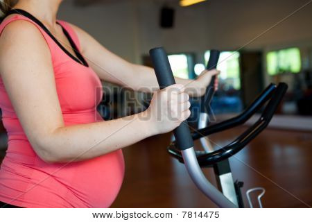 Pregnant Woman Doing Cardiovascular Exercise